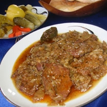 receta gatimi per pergaditjen e berxollave viçi ne qepe