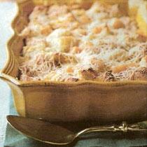 receta gatimi per pergaditjen e pudingut me gjalpë kikiriku dhe me parmesan