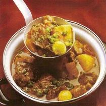 receta gatimi per pergaditjen supes me mish viçi dhe perime