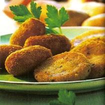 receta gatimi per pergaditjen e Kroketav patatesh me sallam dhe djathë kaçkavall