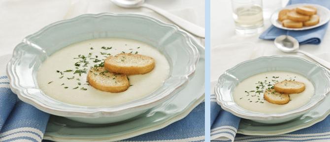 Supë krem me presh dhe patate