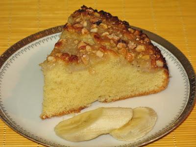 Tortë banane dhe me arra