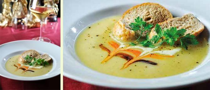 Supë krem pule e qiqër