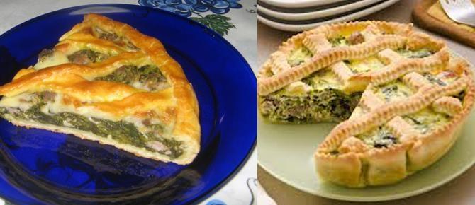 Tortë e kripur me oriz e brokoli