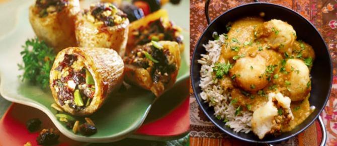 Patate të mbushura indiane