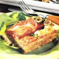 Rriska me mish të bluar, me domate e ullinj