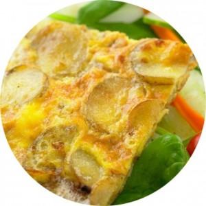Tortilla e lehtë me patate
