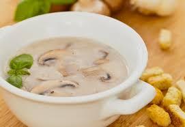 Supë me mushroom