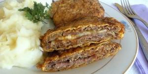 Biftek i mbushur me mish te bluare