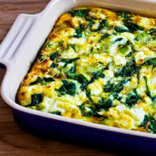 Casserole with spinach