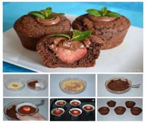 Muffins me dredhza dhe çokolatë
