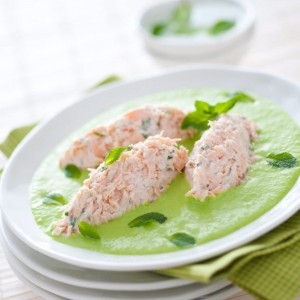Fileto peshku me krem bizelesh