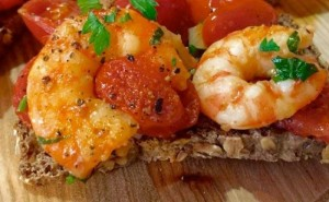 Brusketa me karkaleca dhe domate