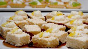 Bajadera të bardha me kokos