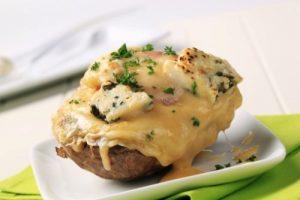 Patate të mbushura me spinaq dhe djathë